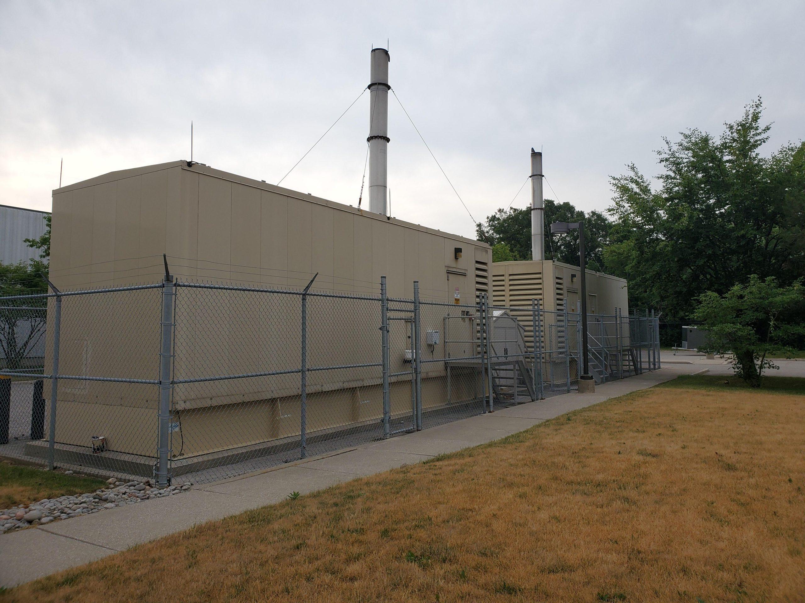 data centre backup power generator decorative