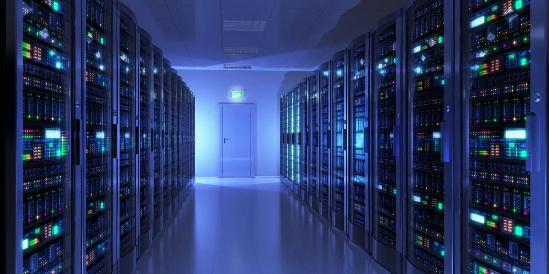 data storage servers lights decorative