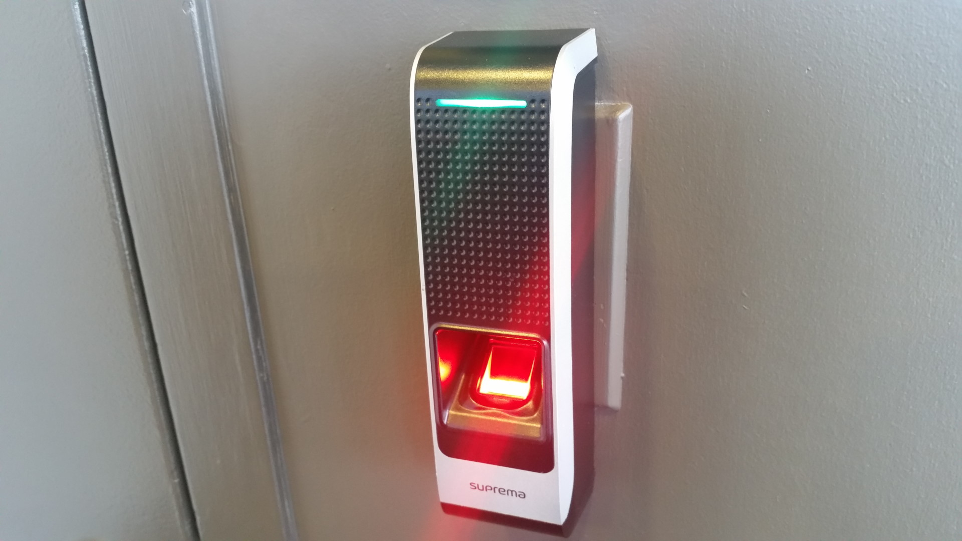 data centre thumb scanner security decorative